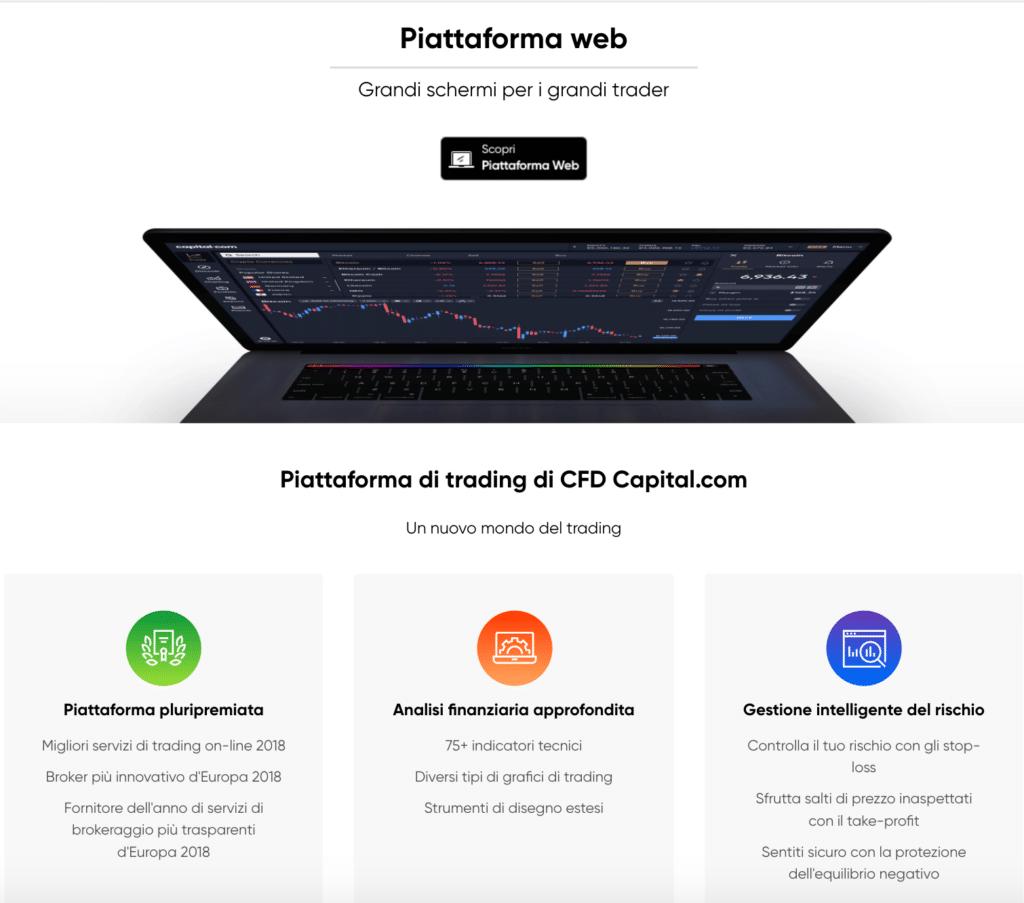 piattaforma web Capital.com