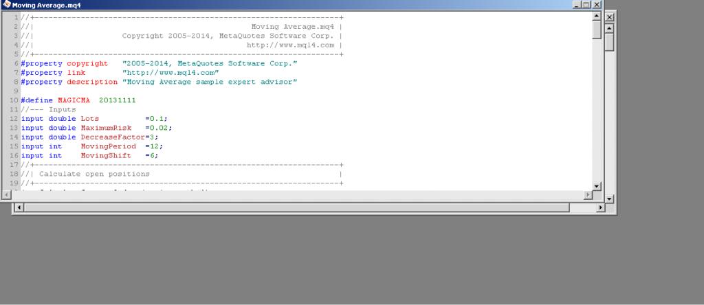 programmazione Expert Advisor con MQL