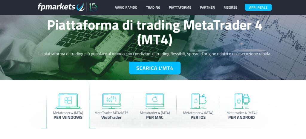 Le offerte di FP Markets sulle MetaTrader